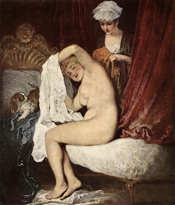 The Toilette by Jean-Antoine Watteau
