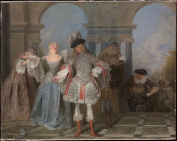 The French Comedians by Jean-Antoine Watteau