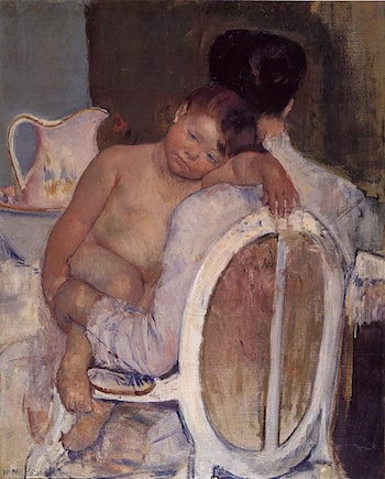 Mother Holding a Child in Her Arms by Mary Cassatt