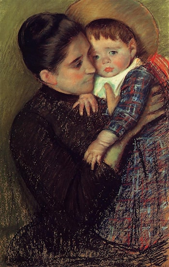 Woman and Her Child by Mary Cassatt