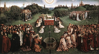 The Ghent Altarpiece: Adoration of the Lamb by Jan van Eyck