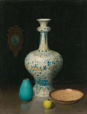 Still Life with a Delft Vase by Harry Willson Watrous