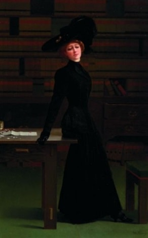 Waiting in the Library by Harry Willson Watrous