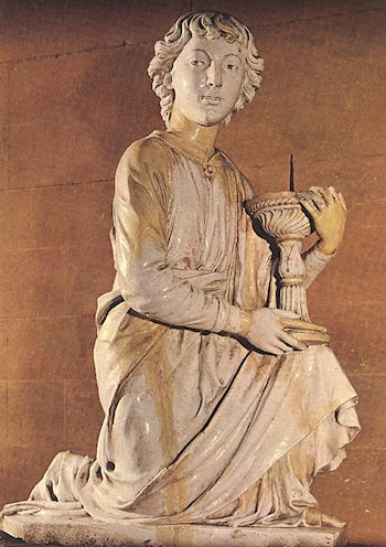 Angel with Candlestick by Luca della Robbia