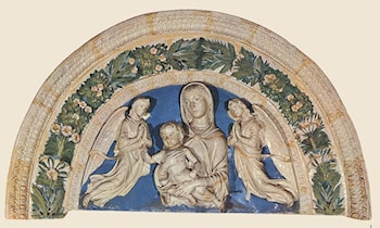 Madonna with Child and Angels by Luca della Robbia