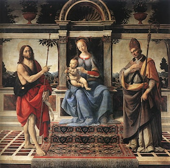 Madonna with Sts John the Baptist and Donatus by Andrea del Verrocchio