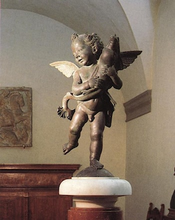 Putto with Dolphin by Andrea del Verrocchio