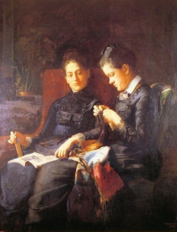 Two Sisters by Susan Macdowell Eakins