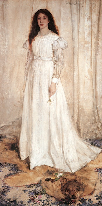 Symphony in White No. 1: The White Girl by James Abbott McNeill Whistler