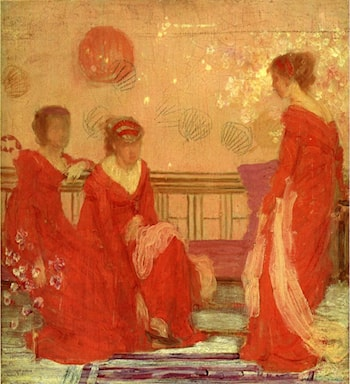 Harmony in Flesh Colour and Red by James Abbott McNeill Whistler