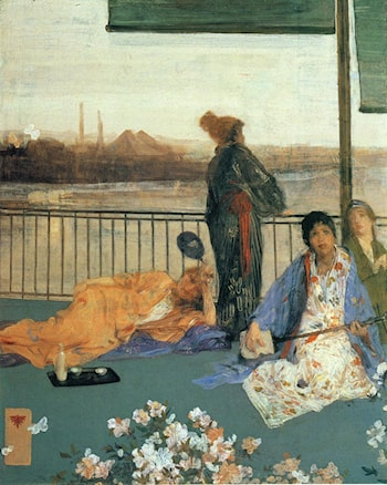 Variations in Flesh Colour and Green: The Balcony by James Abbott McNeill Whistler