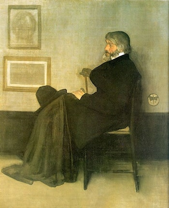 Arrangement in Gray and Black No.2: Portrait of Thomas Carlyle by James Abbott McNeill Whistler