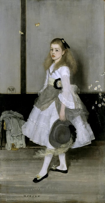 Harmony in Grey and Green: Miss Cicely Alexander by James Abbott McNeill Whistler