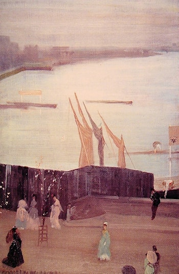 Variations in Pink And Grey: Chelsea by James Abbott McNeill Whistler