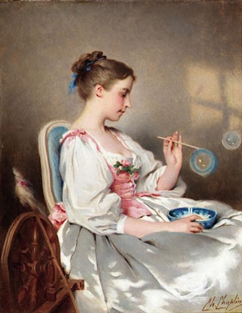 Blowing Bubbles by Charles Chaplin