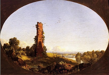 New England Landscape with Ruined Chimney by Frederic Edwin Church