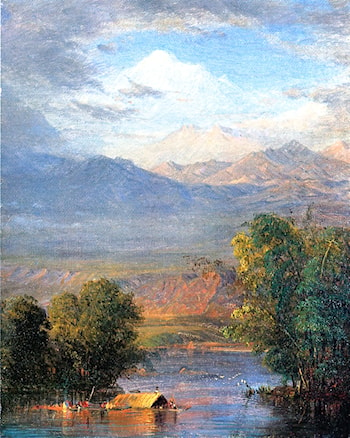 The Magdalena River, Equador by Frederic Edwin Church