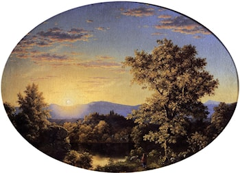 Twilight among the Mountains by Frederic Edwin Church