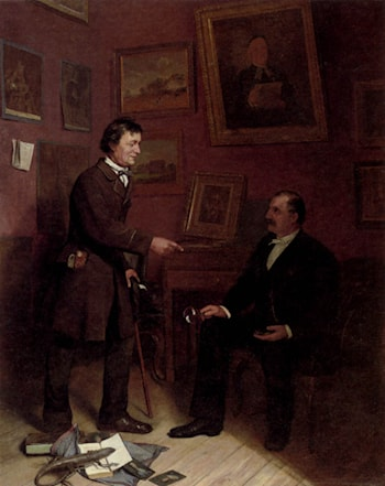 The Art Collector by Carl Christian Andersen