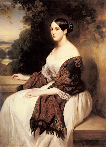 Portrait of Madame Ackerman, the wife of the Chief Finance Minister of King Louis Philippe by Franz Xavier Winterhalter