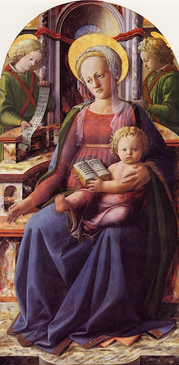 Madonna and Child Enthroned with Two Angels by Filippino Lippi