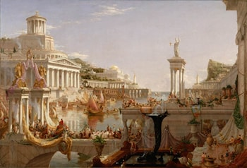 The Course of the Empire:  The Consummation by Thomas Cole