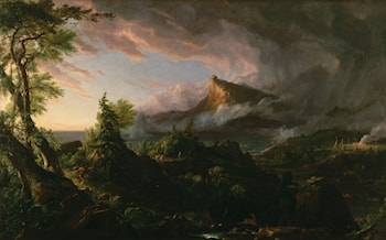 The Course of the Empire: The Savage State by Thomas Cole