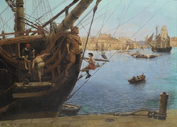 Gilding the Figurehead Porto by Gustave Bourgain