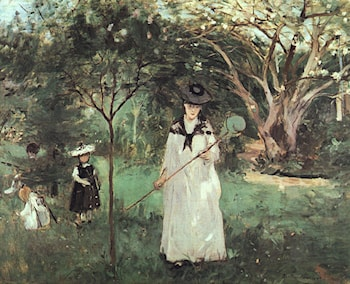 The Butterfly Chase by Berthe Morisot