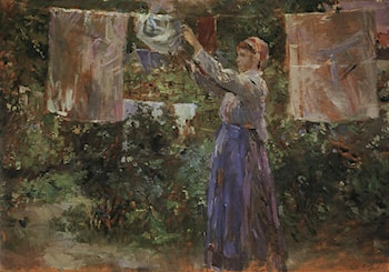 Peasant Hanging out the Washing by Berthe Morisot