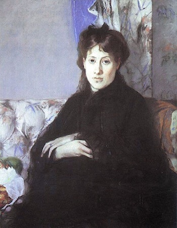 Portrait of Edma Pontillon by Berthe Morisot
