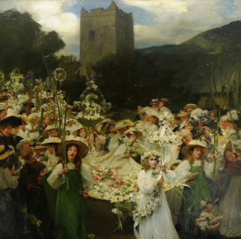 The Grasmere Rushbearing by Frank Bramley