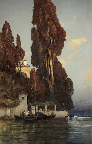A Villa in Venice by Hermann David Solomon Corrodi
