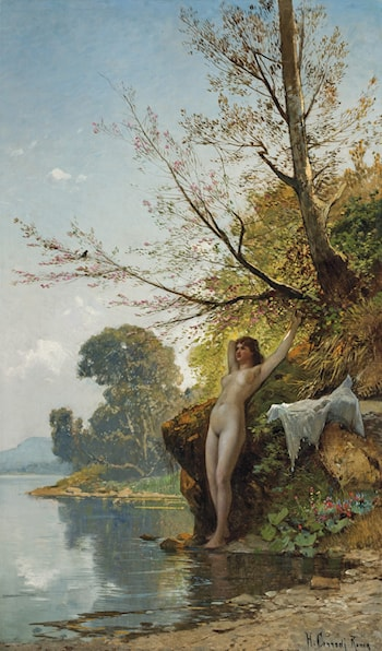 Bather by Hermann David Solomon Corrodi