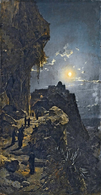 Night on Mount Athos by Hermann David Solomon Corrodi