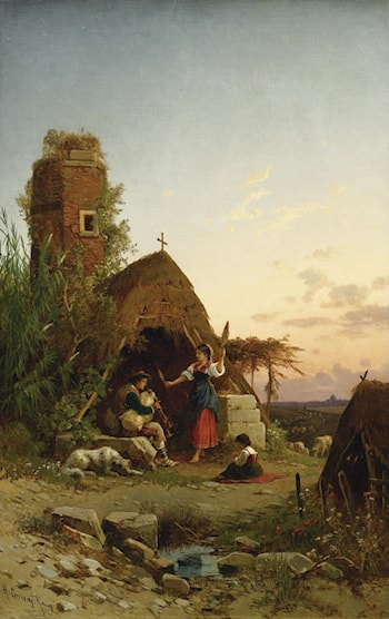 Gypsies in the Campagnia by Hermann David Solomon Corrodi