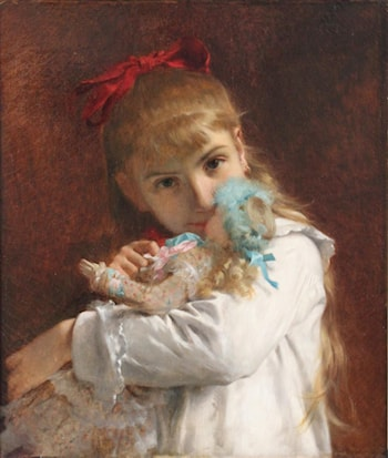 A New Doll by Pierre-Auguste Cot