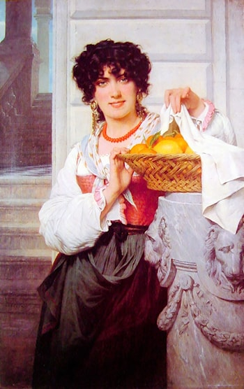 Pisan Girl with Basket of Oranges and Lemons by Pierre-Auguste Cot