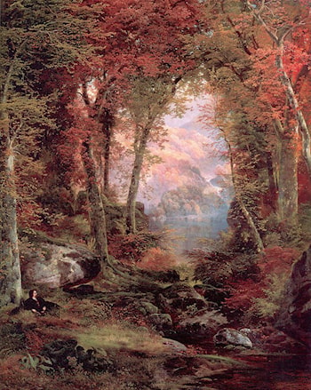 The Autumnal Woods (Under the Trees) by Thomas Moran