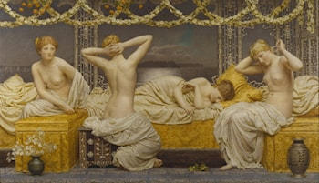A Summer Night by Albert Joseph Moore