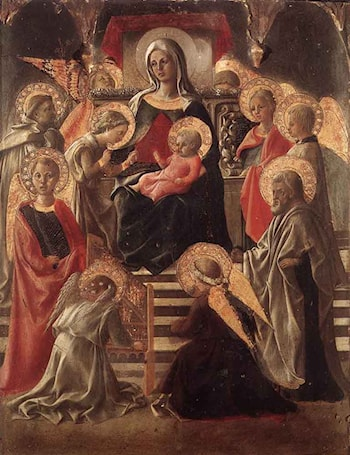 Madonna and Child Enthroned with Saints by Fra Filippo Lippi