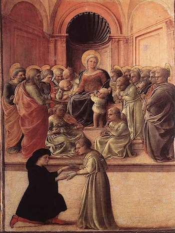 Madonna and Child with Saints and a Worshipper by Fra Filippo Lippi
