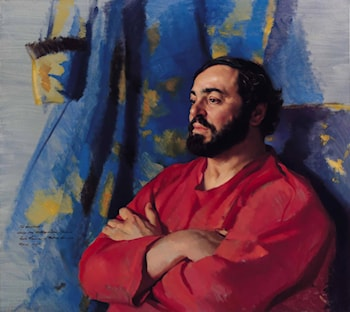 Luciano Pavarotti by Nelson Shanks