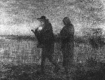 The flight into Egypt by Jean-Francois Millet