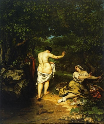 The Bathers by Gustave Courbet