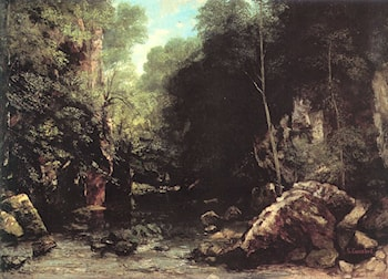 The Shaded Stream by Gustave Courbet