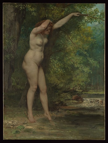 The Young Bather by Gustave Courbet