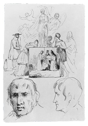 Sketches (from McGuire Scrapbook) by Robert Walter Weir