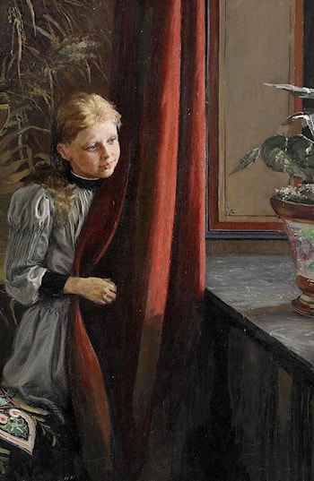 Girl at the Window by Fanny Brate