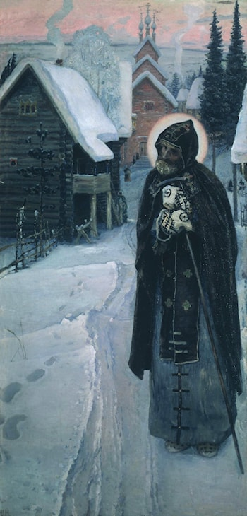 The Labor of St. Serguis by Mikhail Nesterov